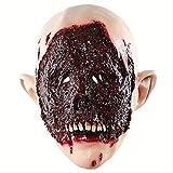 PMWLKJ Halloween Horror Mask Fear Party Haunted Tools Escape Bloody Scary Head Cover Accesorios de maquillaje Decoración Como se muestra F