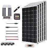 Renogy 500 Watt 12 Volt Solar Premium Kit w/ 5 Pcs 500W Solar Panel+40A MPPT Charge Controller+Solar Cable+Solar Fuse Mounting Z Brackets for RV, Boat