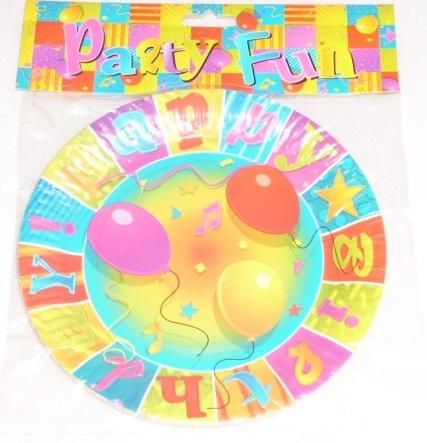 Toyland 24 Bon Anniversaire Les Plaques de Fête - 4 Paquets de 6 (MI207X2 MI203X2) [Le Jouet]