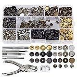 YepYes Metallverschluß Set dekorative Knöpfe DIY Niet Werkzeug Fastener Rivet Fixing Tool Kit für...