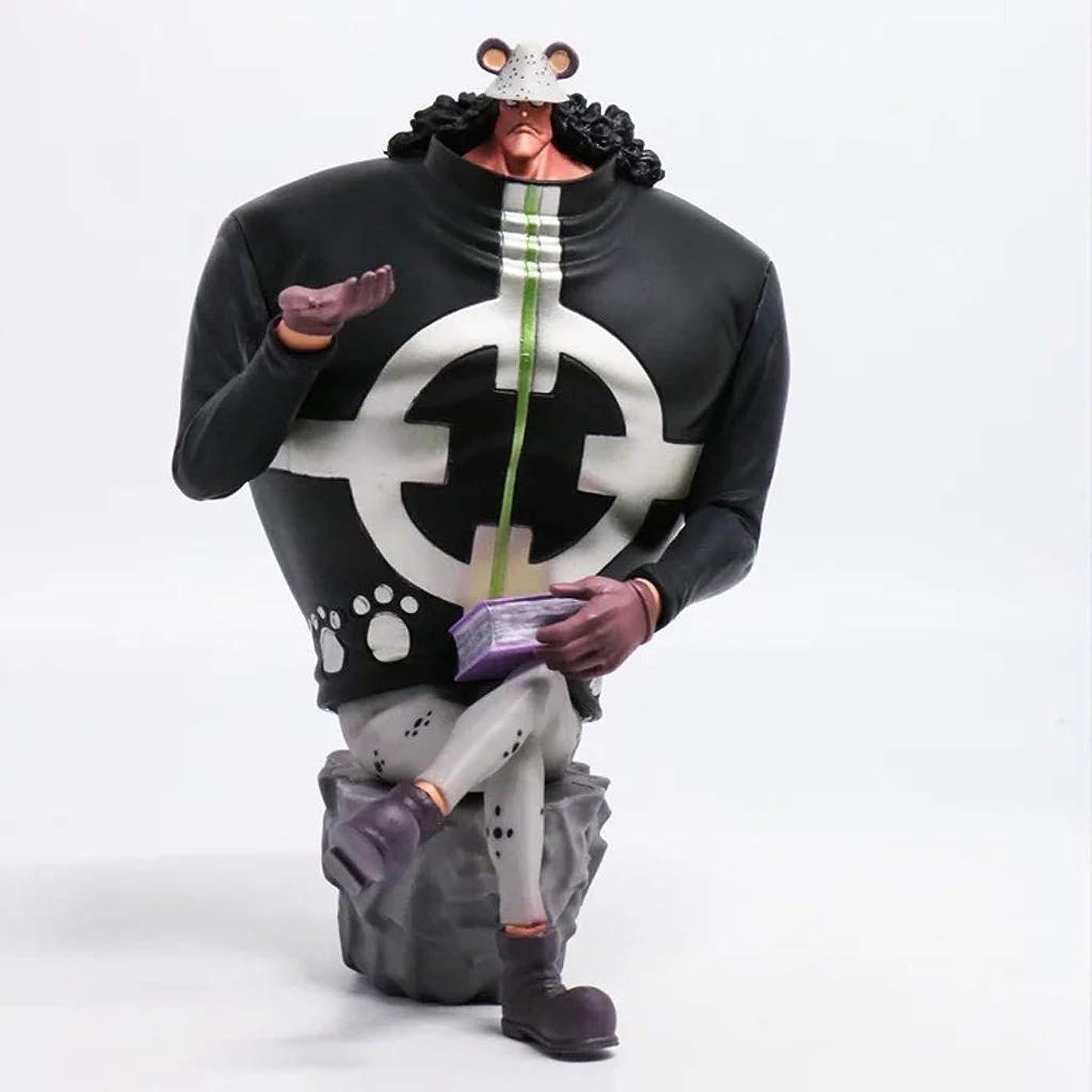 警告スラダム札入れBartholemew、アニメワンピースモデル、子供のおもちゃコレクション像、卓上装飾玩具像玩具モデルPVC(15cm) JSFQ