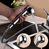 Küchenarmatur ausziehbar 360°schwenkbar Wasserhahn Küche Mischbatterie Einhebelmischer mit 2 Strahlarten Spültischarmatur