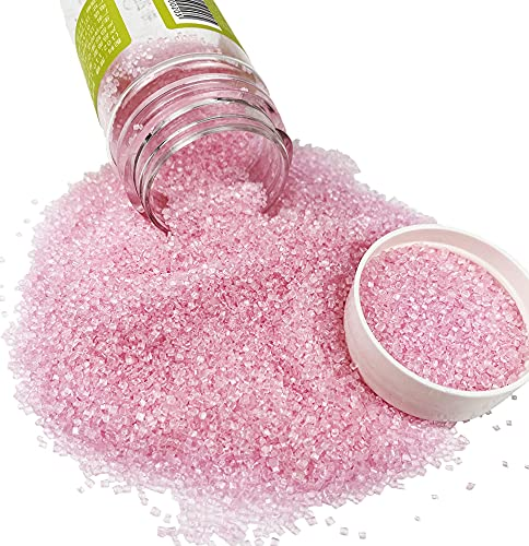 Edible Sugar Sprinkles Pink Candy 100g/ 3.5oz Baking Edible Cake Decorations Cupcake Toppers Cookie Decorating Ice Cream Toppings Celebrations Shaker Jar Wedding Shower Party Chirstmas Supplies