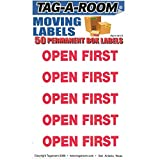 Tag-A-Room Open First Color Coded Moving Label (50 Count), Moving Supplies