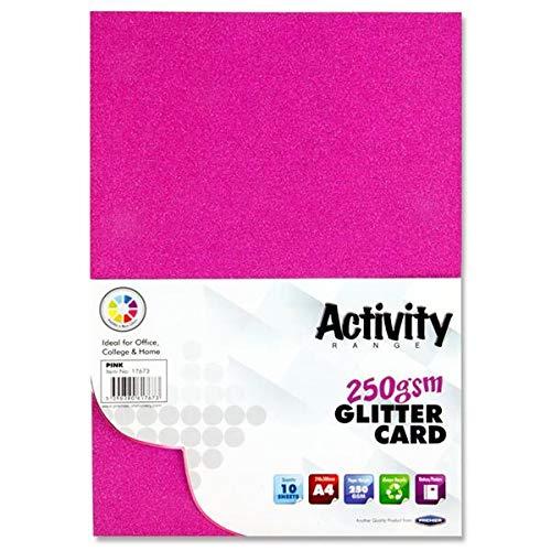 Premier Stationery W2117673 A4 250 gsm Activiteitskaart - Roze (Pak van 10)