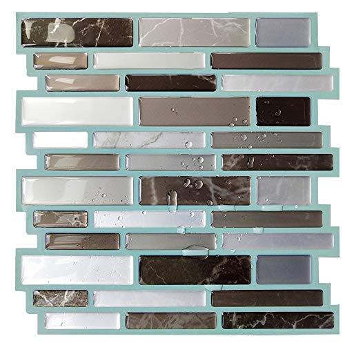 Muurstickers kristal PU lijm epoxy muur aangebrachte sticker perspectieven marmer retro wanddecoratie 10 stuks