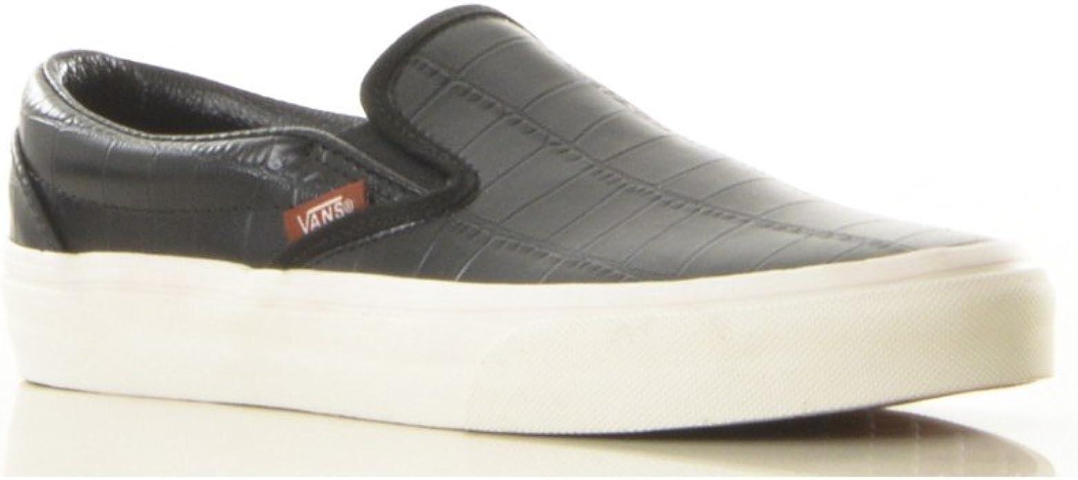 Vans Slip on en Cuir à Motifs Croco : Amazon.fr: Chaussures et Sacs
