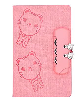 Cotton Candy Pink Diary with Kitties and Combination Lock