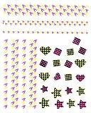 One–pegatinas de Stroke Neon 1637