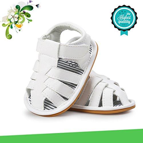Zapatos de Bebé, Morbuy Unisexo Zapatos Bebe Primeros Pasos Verano Recién nacido 0-18 Mes Bebé Casual Verano Zapatos Suela Blanda Zapatillas Antideslizante Sandalias (12cm / 6-12meses, Blanco)
