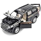 YN モデルカー Suv合金車モデルプラド1:32引き戻す車コレクション趣味家具装飾子供ホリデーギフト ミニカー (Color : BLACK)