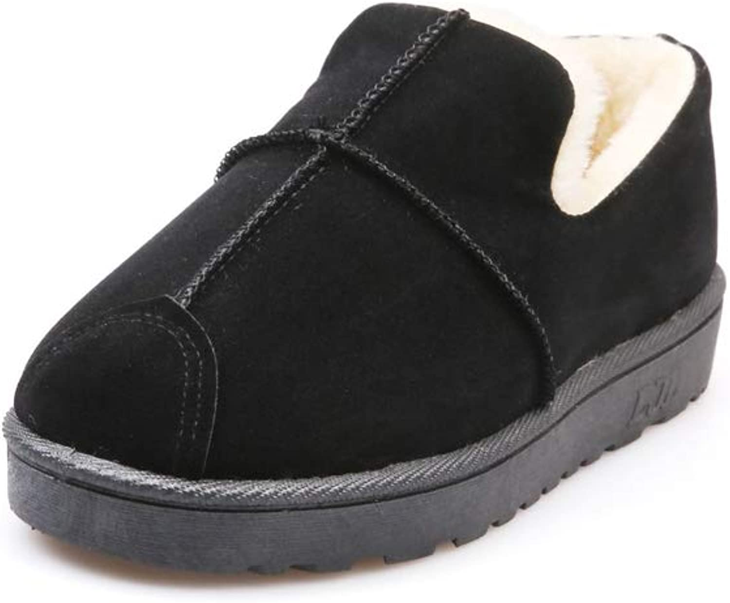A-LING Women's Fur Slipper Casual Winter Flat Indoor&Outdoor Loafers