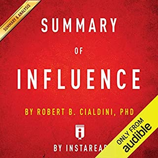 Summary of Influence: by Robert B. Cialdini | Includes Analysis audiobook cover art
