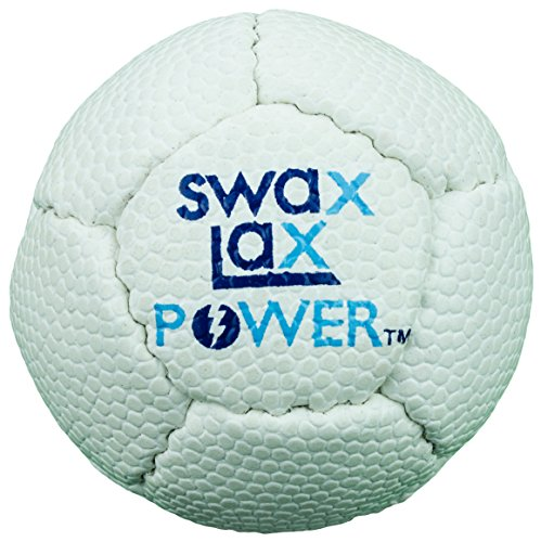 SWAX LAX Power Gewichteter Lacrosse-Trainingsball 12 Prozent Schwerer (weiß)