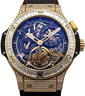 ウブロ HUBLOT ビッグバン トゥ-ルビヨン ベゼルバケットダイヤ 308.PX.130.RX.094 中古 腕時計 メンズ (W154794)