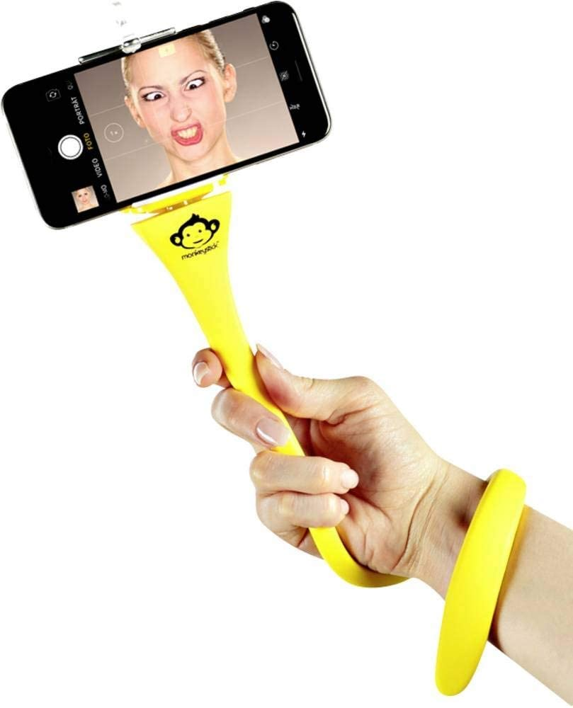 Monkeystick Gelb Biegsamer Selfie Stick Für Handy Gopro Flexibles Stativ Rutschfeste Silikon Beschichtung