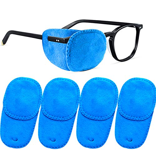 THSIREE 4 Pack Eye Patches for Kids Medical Eye Patch Soft Eye Patch for Glasses Treating Lazy Eye Amblyopia Strabismus for Children Blue