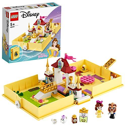 LEGO43177DisneyPrincessBellesMärchenbuchAbenteuer-Set,SchlossausdemFilmDieSchöneunddasBiest,tragbaresSpielset