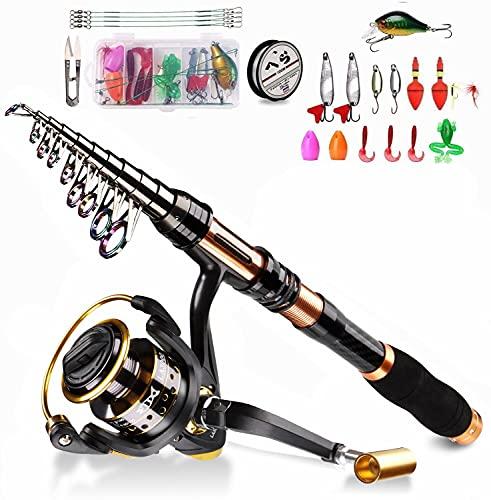 BNTTEAM 6 Set Canne à pêche télescopique 2.1m, 2.4m,...