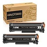 CMYBabee 44A Reemplazo de Cartucho de Tóner Compatible para 44A CF244A para HP Laserjet Pro M15a M15w MFP M28a MFP M28w Impresora (2 Negro)
