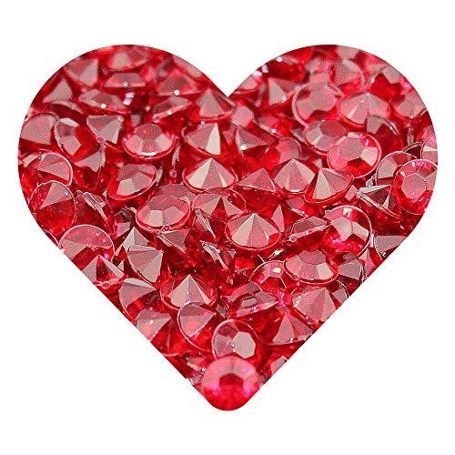 DEKOWEAR/® Diamanten Streudeko Rose, 500 St/ück Zum dekorieren aus Kunststoff Handgearbeitete Diamonds 6 mm als Dekoration f/ür Hochzeiten Geburtstage /& andere Festlichkeiten