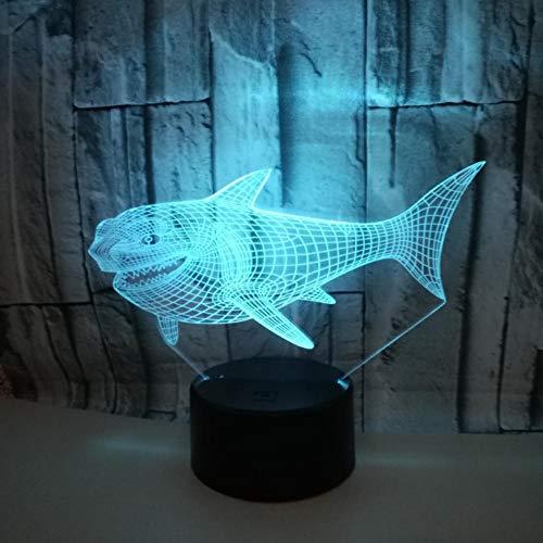 Tiburón Luz Nocturna Toque Colorido Luz Visual