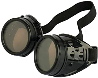 Best WEICHUAN New Sell Vintage Steampunk Goggles Glasses Cosplay Cyber Punk Gothic(Black) Review