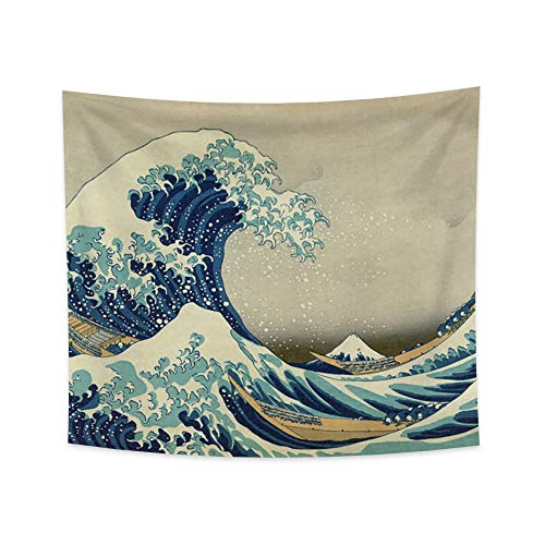 """Yongto Wandteppich """"The Great Wave"""", 180 x 160 cm"""