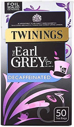 Twinings Té Earl Grey Descafeinado - 50 Bolsitas