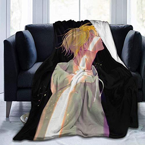 WH-CLA Cobija Banana Fish Ash Lynx Regalo Novedoso Manta De Vellón Anime 204Cmx153Cm Throw Bedding Sofa Bed Cartoon Throw Blanket Luxury Warm Couch Cumpleaños Toda La Temporada De Gran T