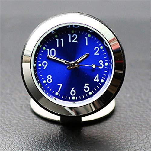 ZHANGJ Dekoratives Zubehör der leuchtenden Zeigerinnenthermometeruhr des Uhr-Autozubehörs, Blaue Zeit