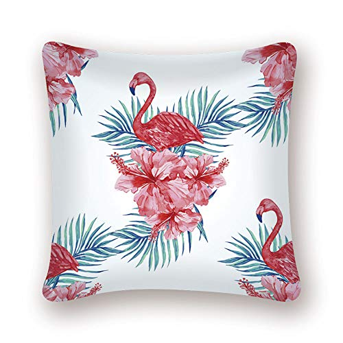 nobrand Flamingo Tropical Plant Kissenbezug Dekokissen Tukan Pink Nordic Home Decoration Sofa Dekorativer Kissenbezug LN068 45 * 45cm