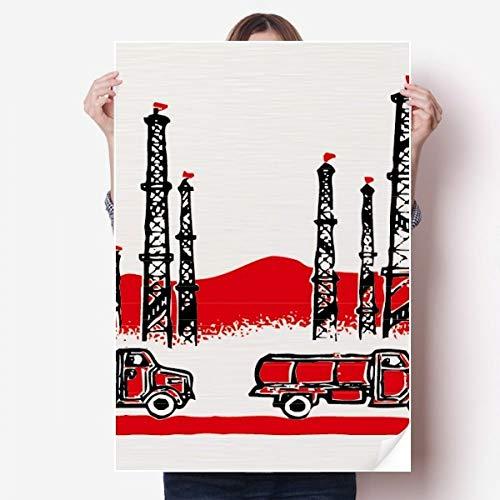 DIYthinker Tour Mountain Car Révolution Chinoise Vinyle Autocollant de Mur Poster Mural Wallpaper Chambre Decal 80X55Cm 80cm x 55cm Multicolor