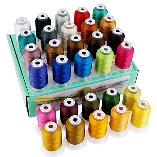 New brothread 30 Nouvelles Janome Couleurs Polyester Fil Machine à Broder 500M - Assortiment 3