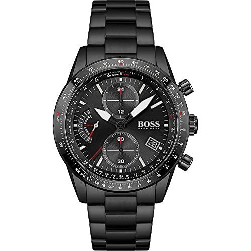 Hugo BOSS Mens Chronograph Quartz Uhr mit Edelstahl Armband 1513854