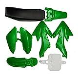 JenNiFer 50Cc 110Cc 125Cc 140Cc Plástico 4 Tiempos Crf50 Pit Bike Set Asiento Mudguard - Verde