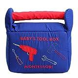Juego de caja de herramientas para bebés, juguetes de caja de herramientas de felpa suave Juguetes educativos para niños Desarrollar habilidades de motricidad fina para 2 3 4 5 6 años Niños Niñas