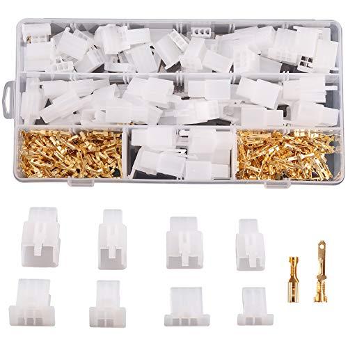 Rantecks 380 STÜCKE 2,8mm Flachsteckhülsen Flachstecker Set 2 3 4 6 Pin Elektrische Kabel Steckverbinder Kit für Motorrad Auto Boote Elektrische Instrumente