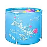 Doblez Barril de baño Azul bañera Innecesario Inflado Espesamiento el plastico niño Barril de baño 58 * 45cm