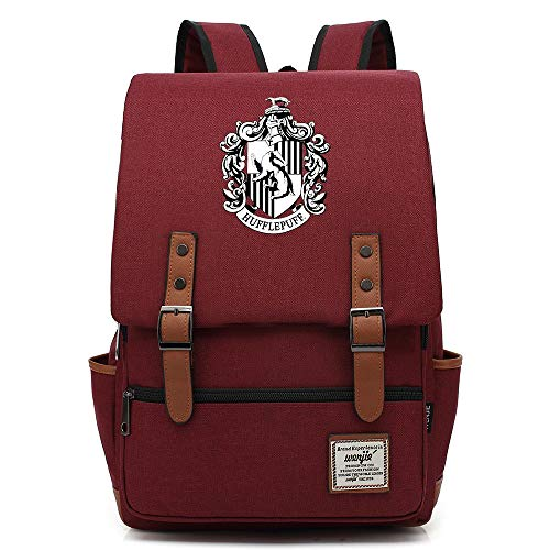 Harry P Gryffindor Insignia Rucksack, Casual Daypack, Lightweight School Travel Rucksack, Fits 15'' Laptop Tablet 16 inch. Color-13.