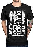 Photo de Dillinger Escape Plan The Logo T-shirt à manches courtes pour homme Noir - Noir - L par
