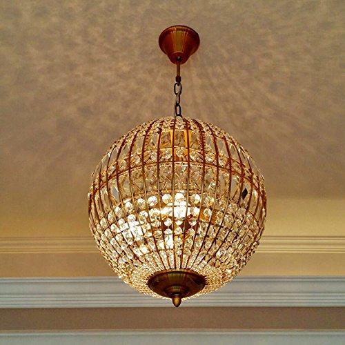 FGAITH kristallen lamp, kroonluchter, smeedijzer, kleur goud, creatief, landhuisstijl, retro, restaurant, woonkamer