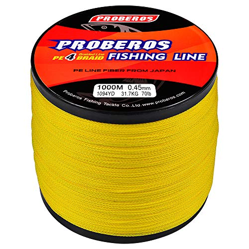 BAIKALBASS Braided Fishing Line 4 Strands Strong Multifilament PE...