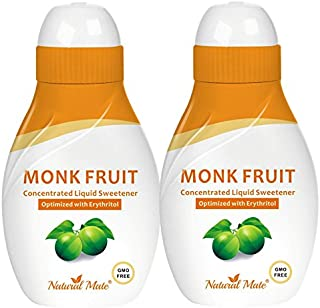 Monk Fruit Liquid Sweetener Made with 100% Monk Fruit Extract and Optimized with Erythritol - 0.9 FL OZ (26.5 mL) | 2 Pack