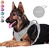 BARKBAY Dog Harness No-Pull Dog Harness Adjustable Outdoor Pet Vest 3M Reflective Air mesh Soft Vest for Dogs Easy Control for Medium Large Breed Dogs