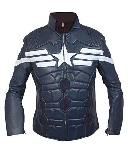 Feather Skin Capitán América 2014, El Soldado De La Chaqueta De Cuero De La Moto De Invierno