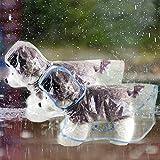 QuTZ Dog Raincoat Rain Jacket Poncho Hoodie Rainwear for Small and Medium Puppies Transparent EVA Lightweight Durable and Fashion Design 2pcs While and Blue (X-Small)