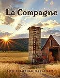 Livre de Coloriage Pour Adultes la Compagne: Ce livre plein de pages à colorier incroyables avec de belles scènes de campagne, des animaux de ferme mignons et des scènes de printemps.