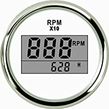 ELING Digital Tachometer RPM Gauge with Hour Meter for Car Truck Boat Yacht 0-9990RPM 52mm(2