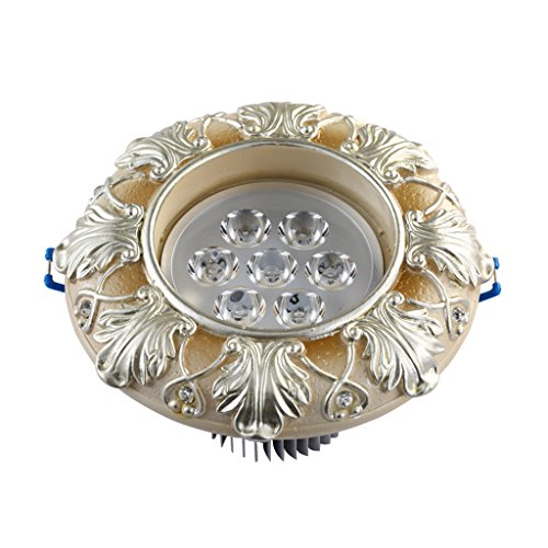 Wddwarmhome Retro projecteurs Led Couloir Lights 7W Plafonniers Downlight Sculpté Artisanat Beige 2pcs